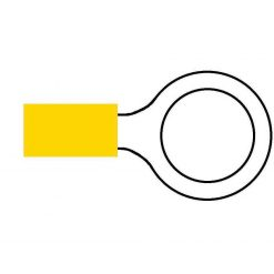 0-001-39 – Terminal Yellow 13.00mm Ring – Qty. 50