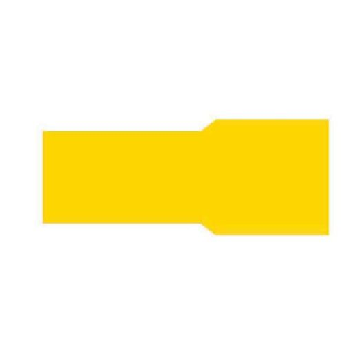0-001-46 – Terminal Yellow 6.30mm Push-on – Qty. 50