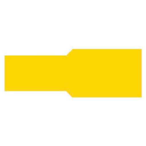 0-001-47 – Terminal Yellow 9.50mm Push-on – Qty. 50