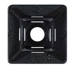0-002-41 – Sticky-Back Cable Tie Base Black  – Qty. 25