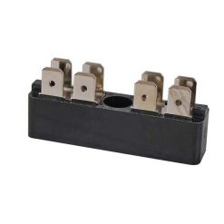 0-005-52 – Bus Bar 2 x 4 way 6.3mm Blade Terminal 25 amp – Qty. 1