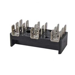 0-005-53 – Bus Bar 3 x 6 way 6.3mm Blade Terminal 25 amp  – Qty. 1