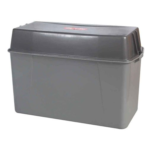 0-087-50 – Battery Box 390 x 185 x 210mm Grey Plastic with Lid  – Qty. 1