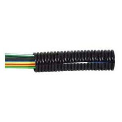 0-331-10 – Convoluted Split Black Nylon Tubing 10 NW – Qty. 50M