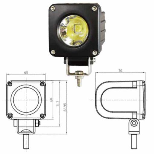 0-420-54 - Work Lamp 1 x LED 9-36V  - Qty. 1