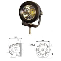 0-420-58 - Work Lamp 1 x LED 9-36V  - Qty. 1