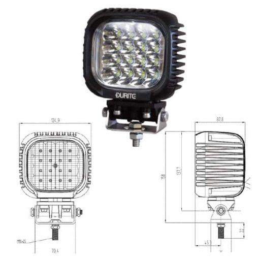 0-420-76 - Work Lamp 16 x LED 10-30V  - Qty. 1