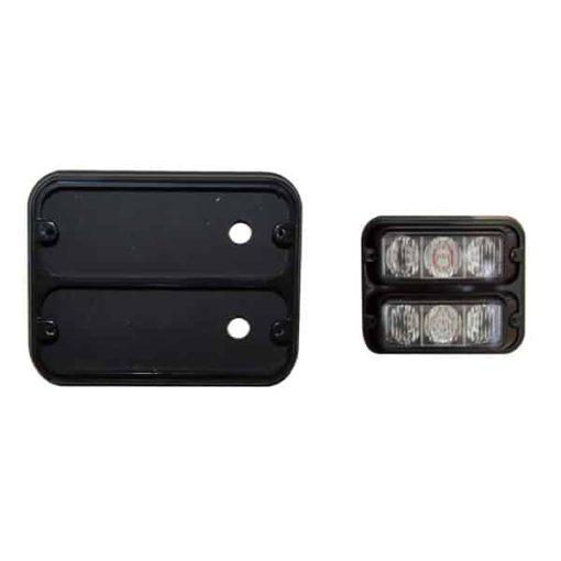 0-442-91 - Bezel Double Black c/w Gasket & Fixing Kit (3 LED)  - Qty. 1