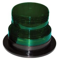 0-445-87 - Beacon Low Profile LED 11-110 volt Green 3 Bolt Fixing  - Qty. 1