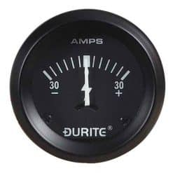 0-523-01 – Ammeter Gauge Illuminated 52mm 30-0-30 amp  – Qty. 1