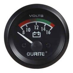 0-523-22 – Voltmeter Gauge Illuminated 52mm 12 volt  – Qty. 1