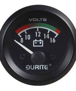 0-523-22 – Voltmeter Gauge Illuminated 52mm 12 volt  – Qty. 1