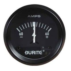 0-523-51 – Ammeter Gauge Illuminated 52mm 60-0-60 amp  – Qty. 1