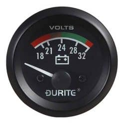 0-523-72 – Voltmeter Illuminated 52mm 24 volt  – Qty. 1