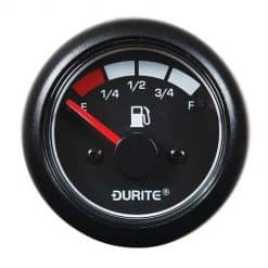 0-525-06 – Fuel Gauge Marine LED Illuminated 52mm 12/24 volt  – Qty. 1