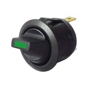 0-531-54 – Switch Toggle Round On/Off Green LED 12/24 volt  – Qty. 1