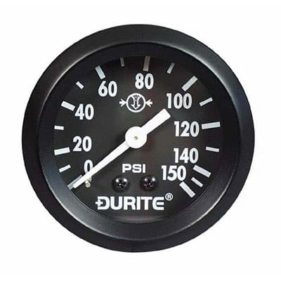 """0-533-01 – Air Pressure Gauge 52mm Mechanical with 12"""" Capillary  – Qty. 1"""