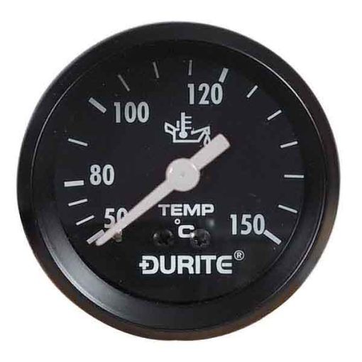 """0-533-15 – Oil Temperature Gauge 52mm Mechanical with 12"""" Capillary  – Qty. 1"""