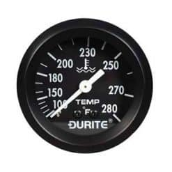 "0-533-73 – Water Temperature Gauge Fahrenheit 52mm with 12"" Capillary  – Qty. 1"