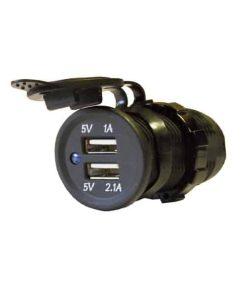 0-601-08 - USB 2-Port Socket 12 volt  - Qty. 1