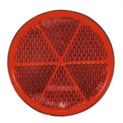 0-665-55 – Reflector Red 80mm Round Adhesive – Qty. 10