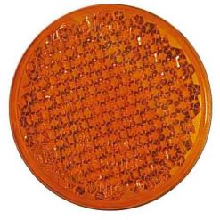 0-665-80 – Reflector Amber 55mm Round Adhesive – Qty. 10
