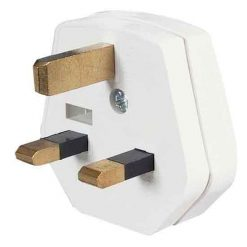 0-684-01 – Plugtop 13 amp Mains Fused White Nylon – Qty. 20