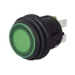0-690-54 – Switch Push/Push Green LED 12/24 volt  – Qty. 1