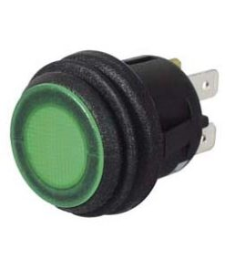 0-690-54 – Switch Push/Push Green LED 12/24 volt  – Qty. 1