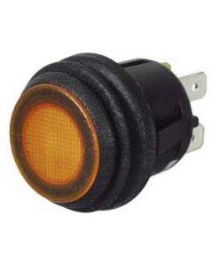 0-690-60 – Switch Push/Push Amber LED 12/24 volt  – Qty. 1