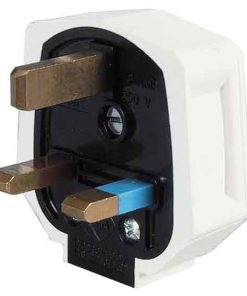 0-698-01 – Plugtop 13 amp Mains Fused White Rubber – Qty. 10