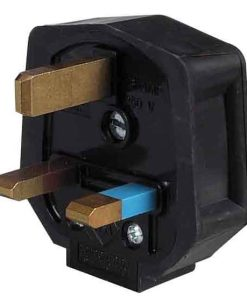 0-698-18 – Plugtop 13 amp Mains Fused Black Rubber – Qty. 10