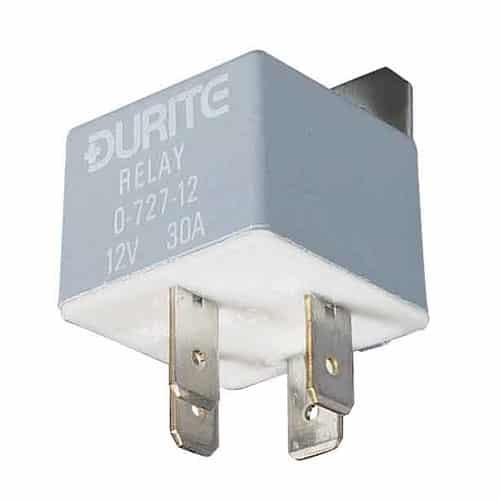 Durite 12 Volt 30 Amp Mini Twin Make and Break Relay 12V 30A  0-727-32