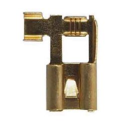0-005-13 – Terminal 8.0mm Flag Push-On with Lock Tag – Qty. 50