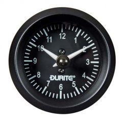 0-523-03 – Clock Quartz Gauge Illuminated 52mm 12/24 volt  – Qty. 1