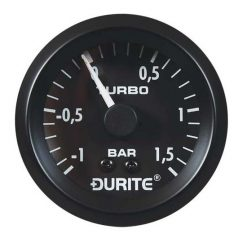 """0-533-02 – Vacuum/Boost Gauge 52mm Mechanical with 5"""" PVC Capillary  – Qty. 1"""