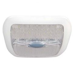 0-668-30 – Roof Lamp White LED with Switch and Night Light 12/24volt  – Qty. 1