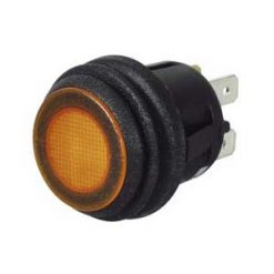 0-690-60 – Switch Push/Push Amber LED 12/24 volt  – Qty. 1