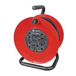 0-723-80 – Mains Extension Reel 13 amp 4 Sockets 30 metre – Qty. 1