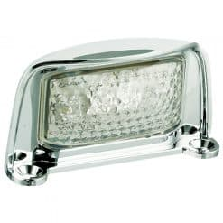 35CLME - License Plate Lamp with Chrome Bracket