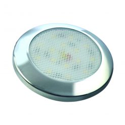 7515C-WW - Interior Lamp - Round 15 Warm White LED's 12v Chrome Bezel