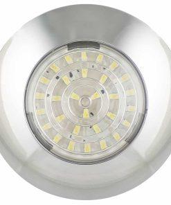 7524C - Interior Lamp - Round 24 SMD LED's 12v Chrome Base