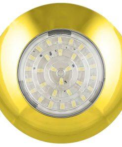 7524G - Interior Lamp - Round 24 SMD LED's 12v Gold Base