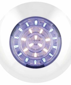 7524WB - Interior Lamp, White/Blue - Round 24 LED's 12v White Bas