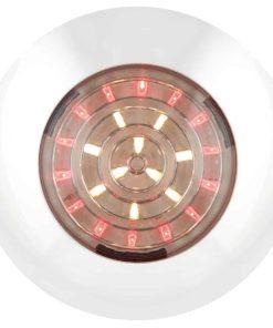 7524WR - Interior Lamp, White/Red - Round 24 LED's 12v White Base