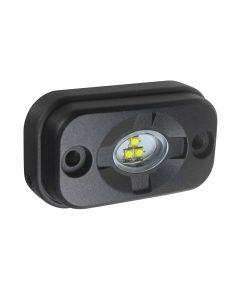7705BM - Small Rectangular 3 x Osram LED Scene Light w/ Black Housi