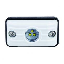 7815WM - Small Rectangular 3 x 5W LED Scene Light w/ White Housing