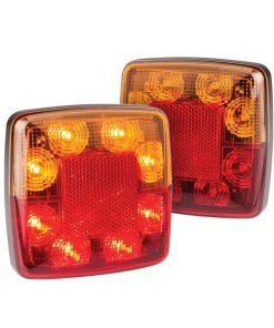 98BAR2 - 2 x Stop/Tail, Indicator, Reflex Reflector Lamp - 12v